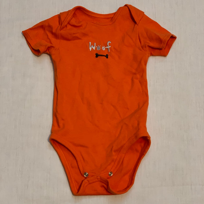 Pekkle orange onesie Size 9M