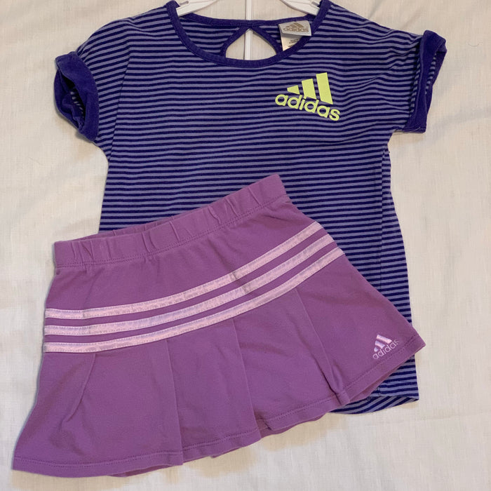 Adidas 2 piece tennis suit size 6