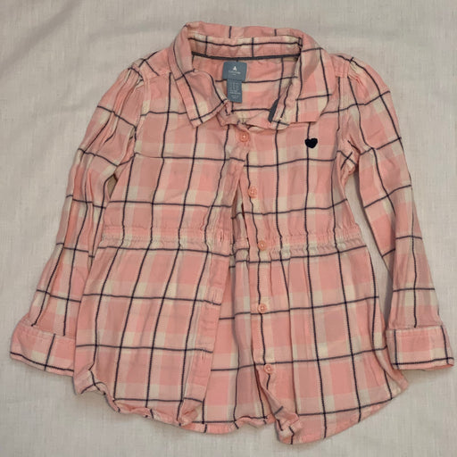 Baby gap tunic pink plaid