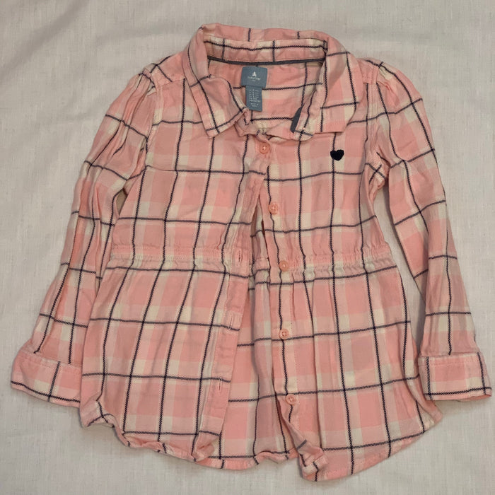 Baby gap tunic pink plaid Size 3T