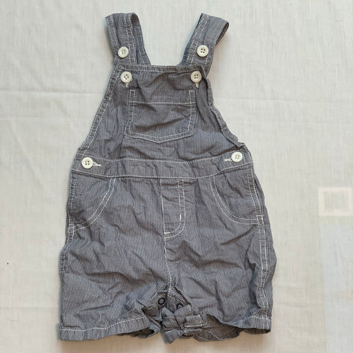 George overalls white buttons