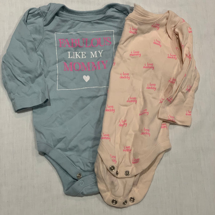 Children's place set of 2 onesies Size 0-3M