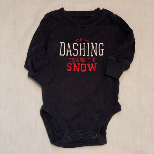 Carters black onesie