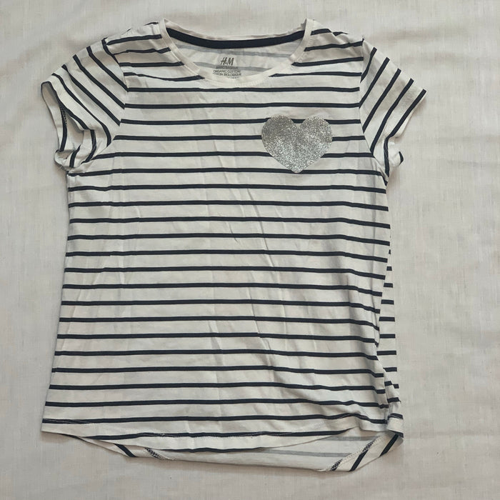 H&M striped tee Size 6/7