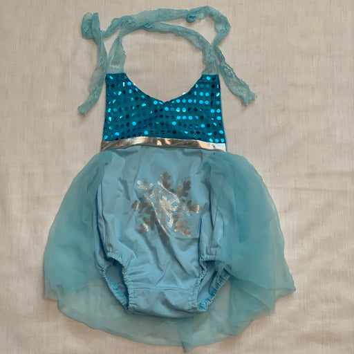 Halter onesie with tulle skirt