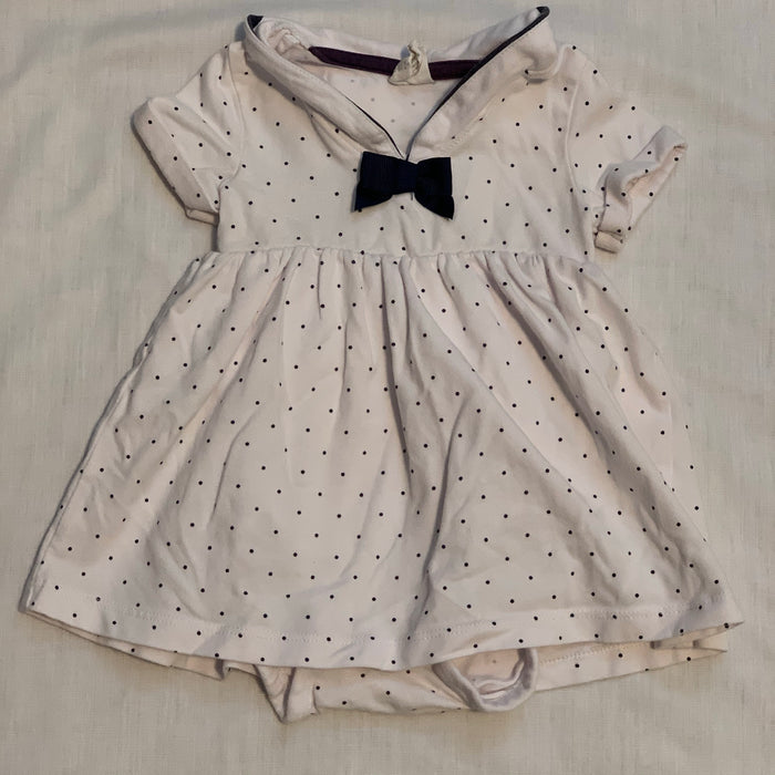 H&M sailor dress with built in onesie Size 6M