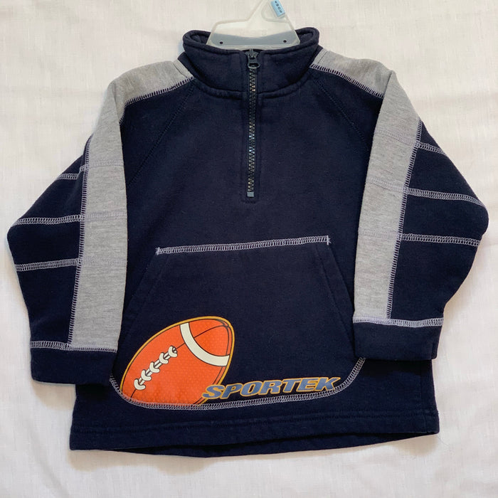 Half zip football sweatshirt