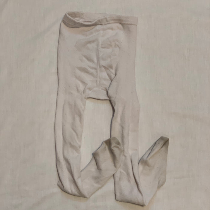 Thick material white tights Size 6-8