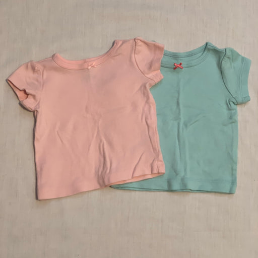 Pink and teal tees