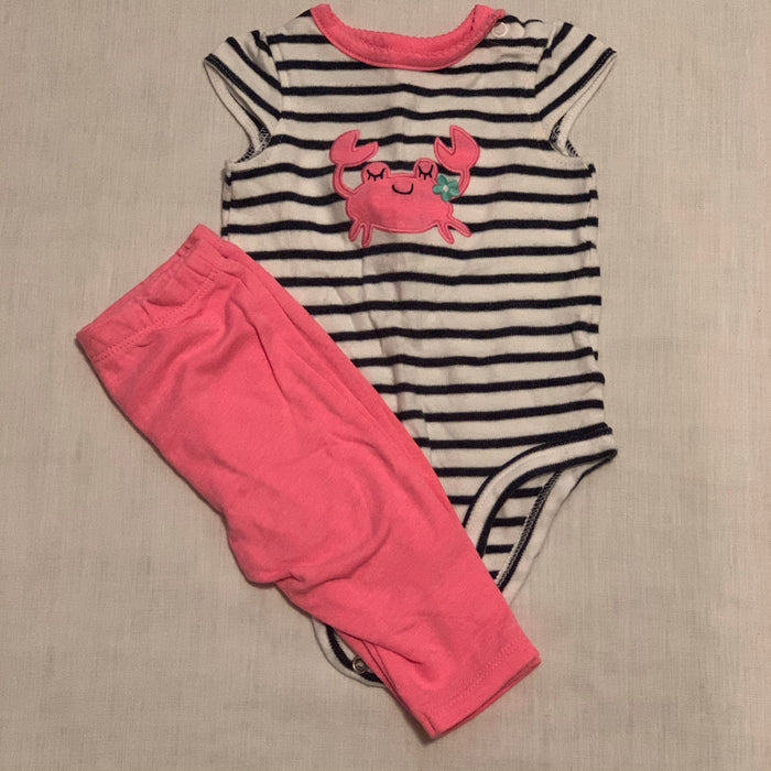 Carters 2 piece set size 3M
