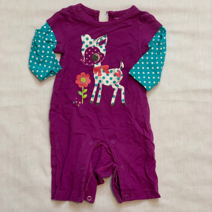 George long sleeve romper Size 0-3M