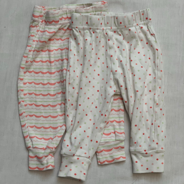 George 2 pack light pants Size 6-12M