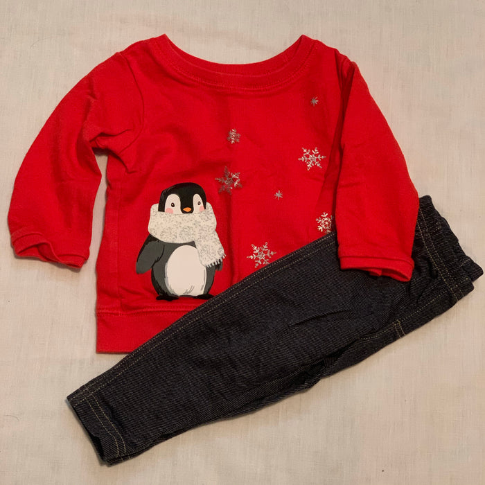 Carters sweatshirt leggings set size 9M