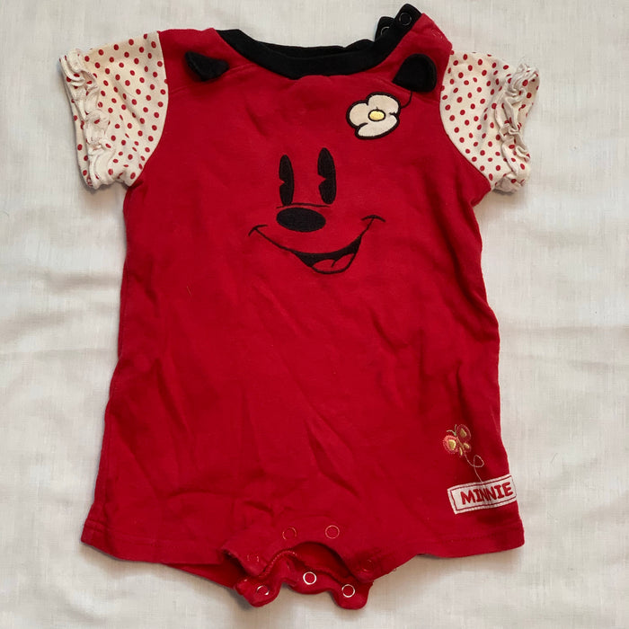 Disney Minnie red romper Size 6M