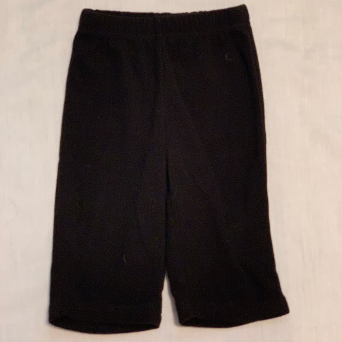 George black fleece pants size 3-6M