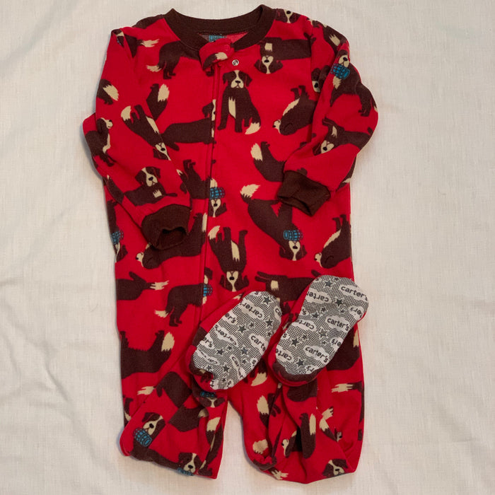 Carters foot pjs size 24M