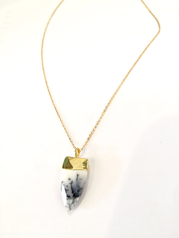 "Dendrite Agate ""Stone of Abundance"" Necklace"