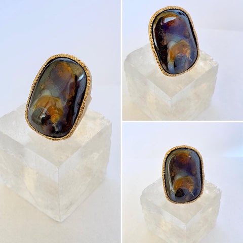 Boulder Opal Spiritual Progression Ring