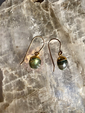 Labradorite Nugget Earrings