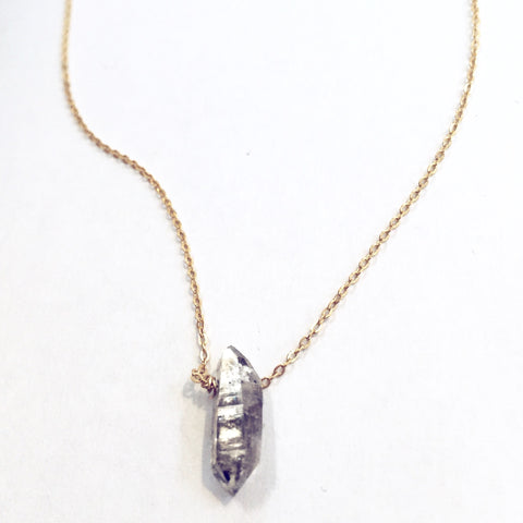 Herkimer Diamon Quartz Necklace