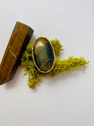 "Tigers Eye ""Protection"" Ring"