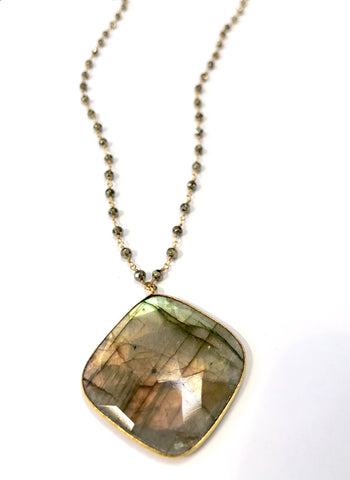 Labradorite & Pyrite Force Field