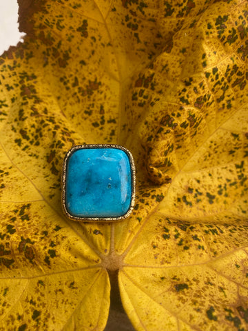 Turquoise 4 Corners Ring