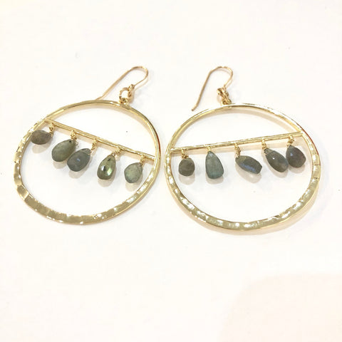 Labradorite Teardrops Earrings