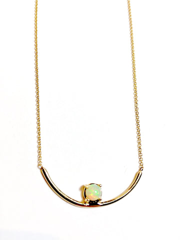 """Opal Arch"" 14K gold Necklace"