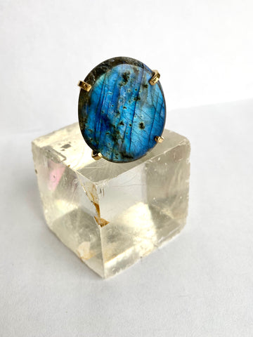 Labradorite Galaxy Ring