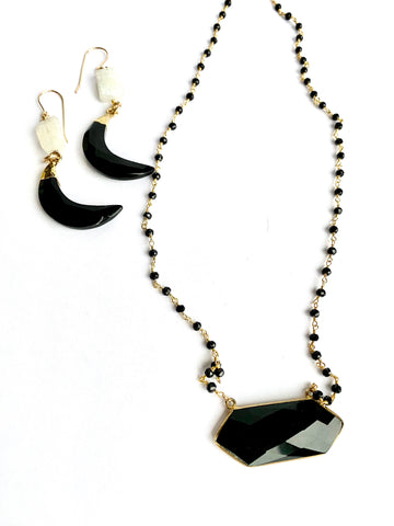 Onyx on Onyx Protection Necklace