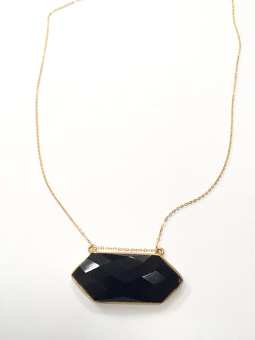 Onyx Double Tourmalated Necklace