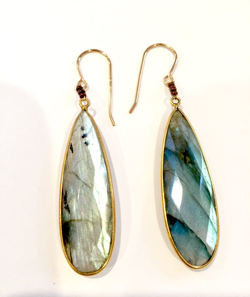 Mystical Oval Labradorite Earrings