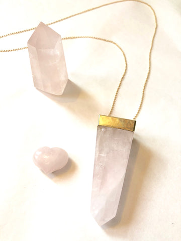 "Rose Quartz ""Amulet of Unconditional Love"""