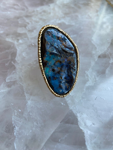 "Boulder Opal ""Stone of True Self"" Ring"