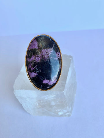 "Charoite ""Overcoming"" Ring"