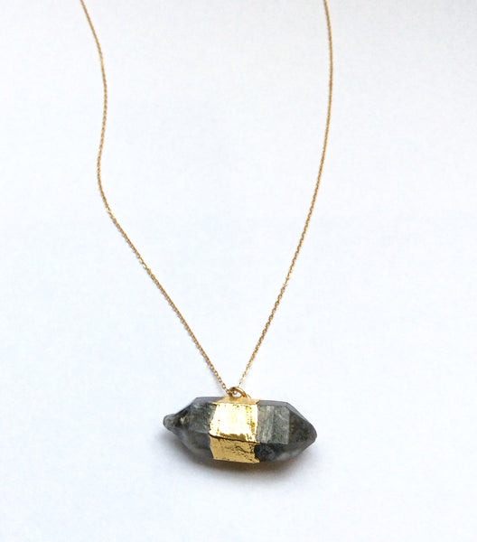 Double-pointed Smokey Quartz