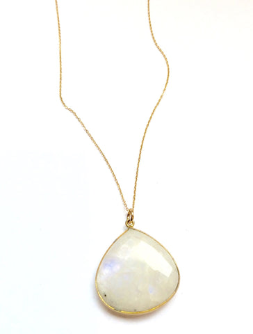 Moon Stone Teardrop Necklace