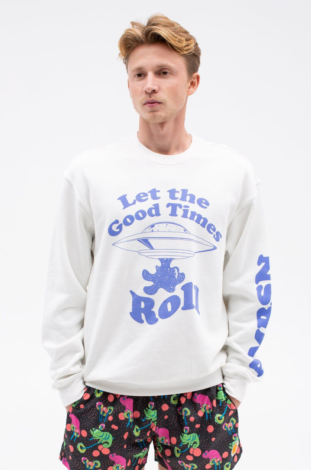 Good Times Crew Sweatshirts ambsn