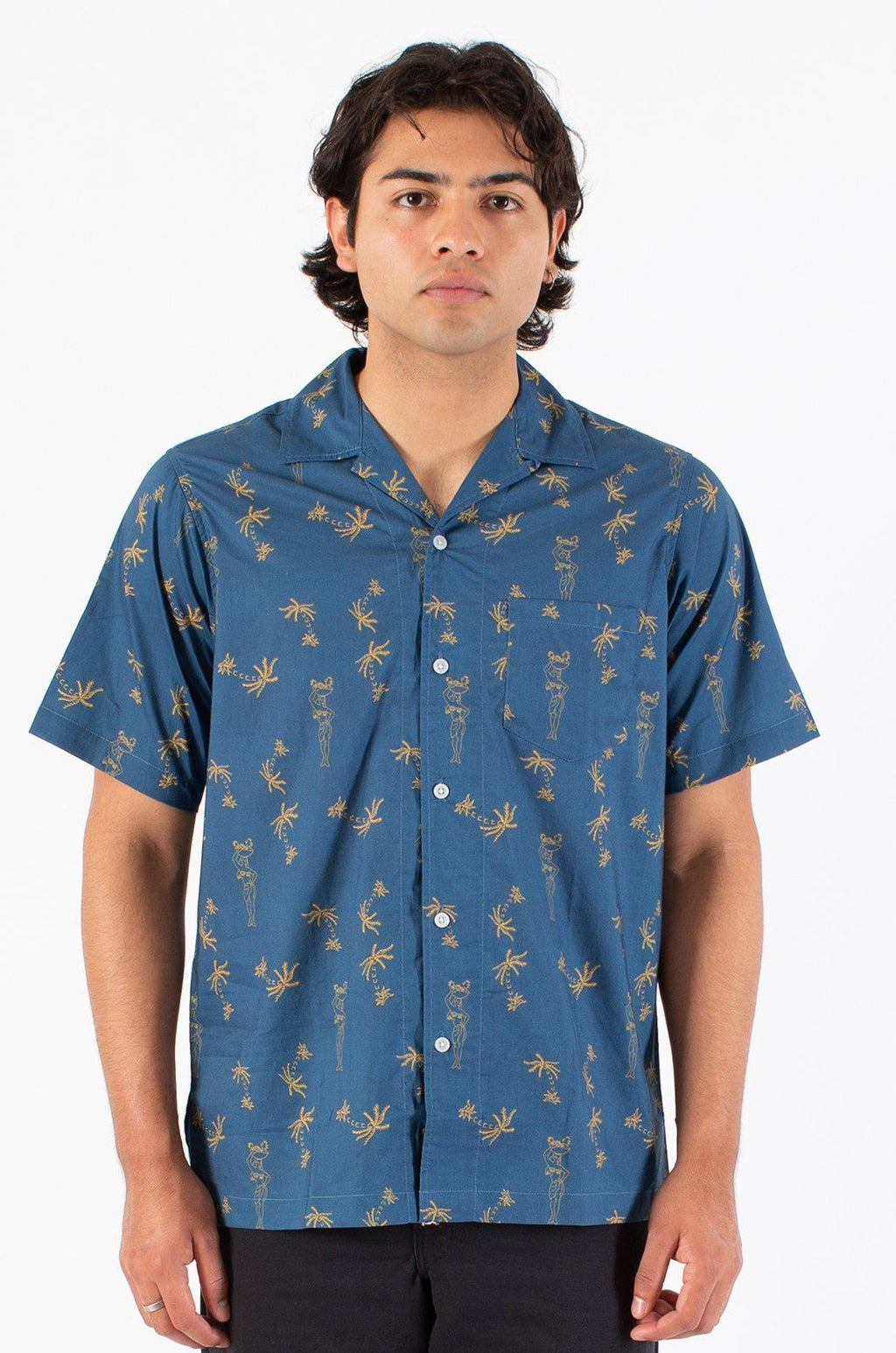 Siren Camp Shirts ambsn NAVY XS