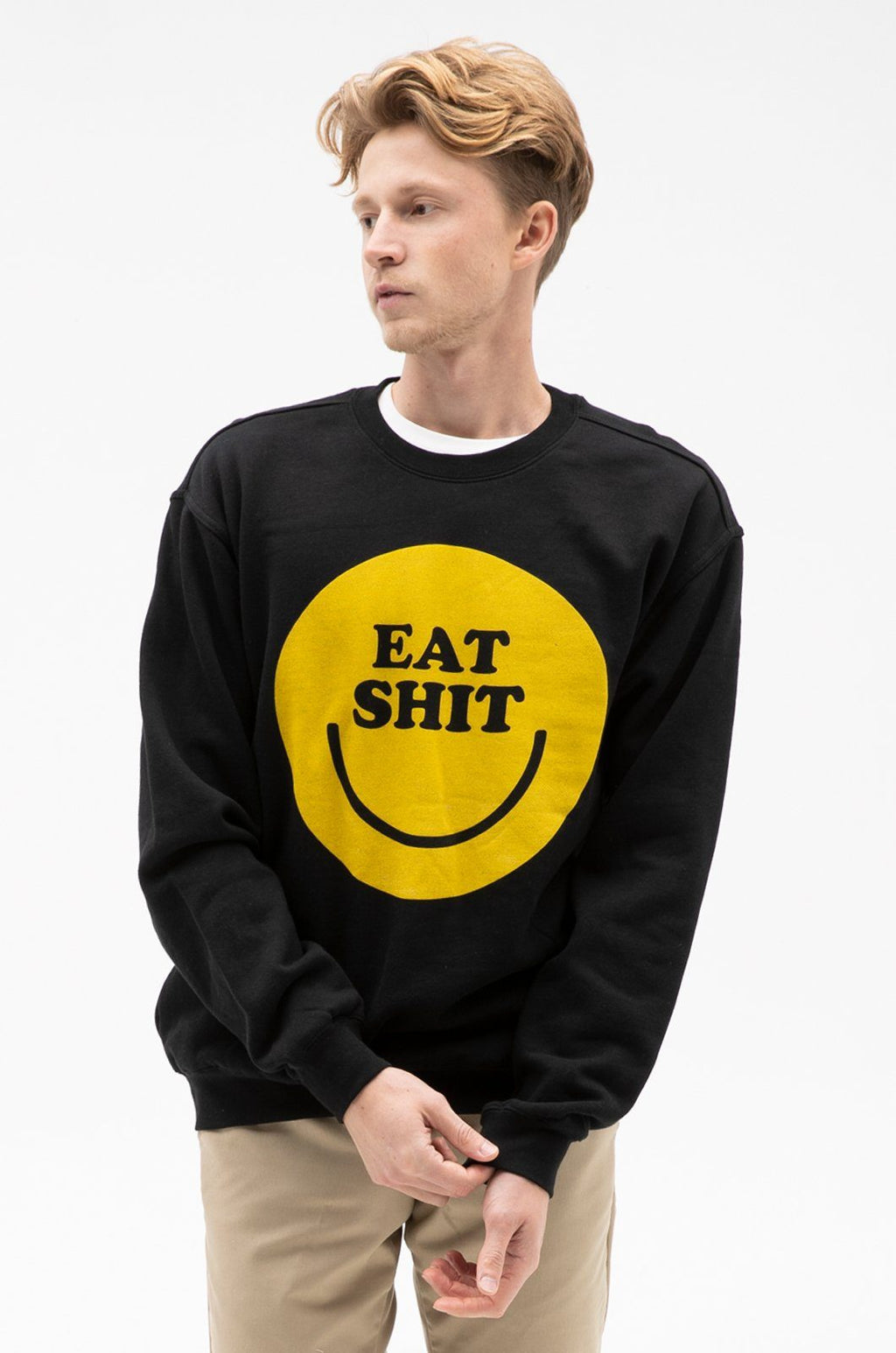 Smiley Crew Sweatshirts ambsn Black XS