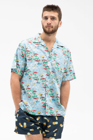 Palm Mingo Button Up Shirt