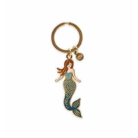 Mermaid Enamel Keychain