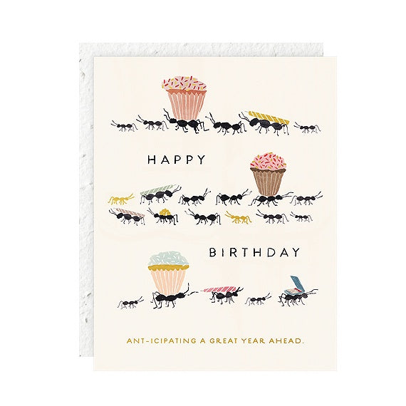 Ants Birthday Single Card