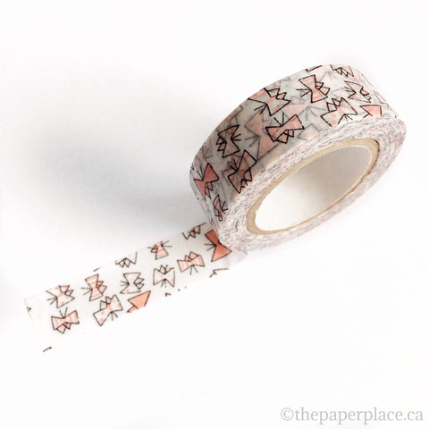 Pink Butterfly Washi Tape - 15mm