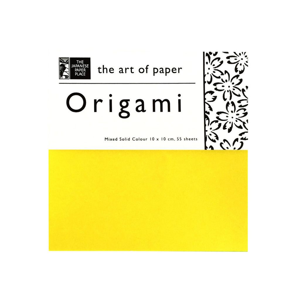10cm Mixed Solid Colour Origami - 55 Sheets