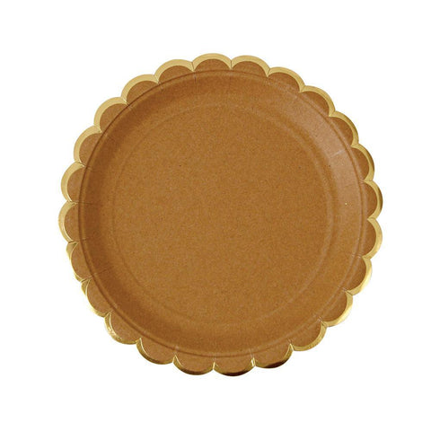 Kraft Scallop Plates (Small)