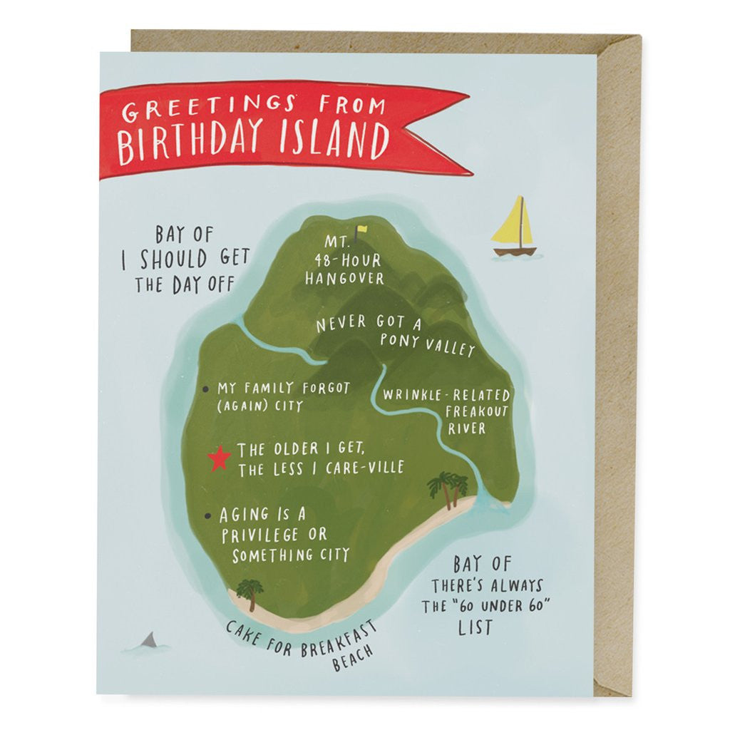 Birthday Island Single Card