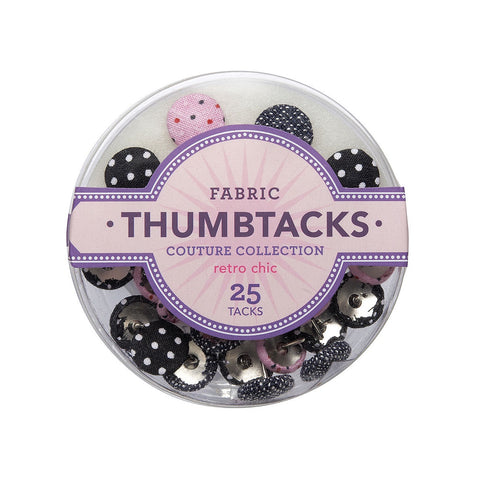 Retro Chic Fabric Thumbtacks