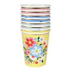 Bright Floral Party Cups